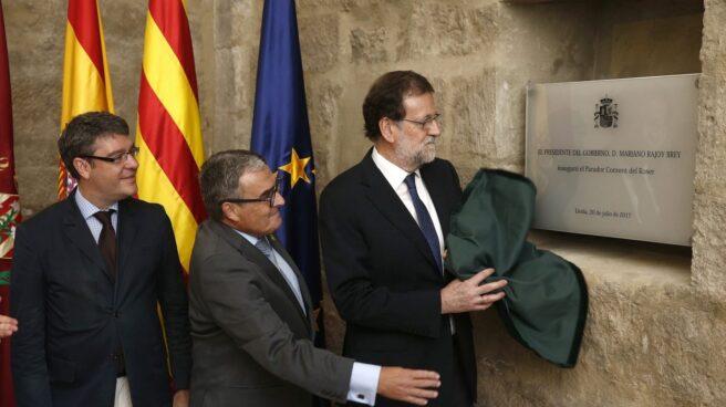 Rajoy inaugura el Parador de Lérida.