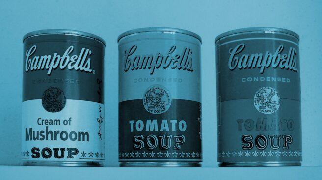 Envases de sopa de Campbell Soup.