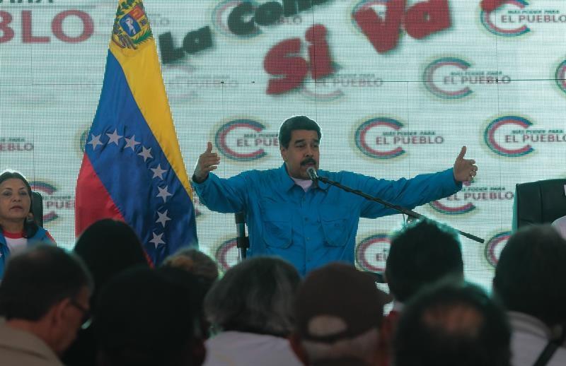 Maduro en un acto reciente en Caracas.