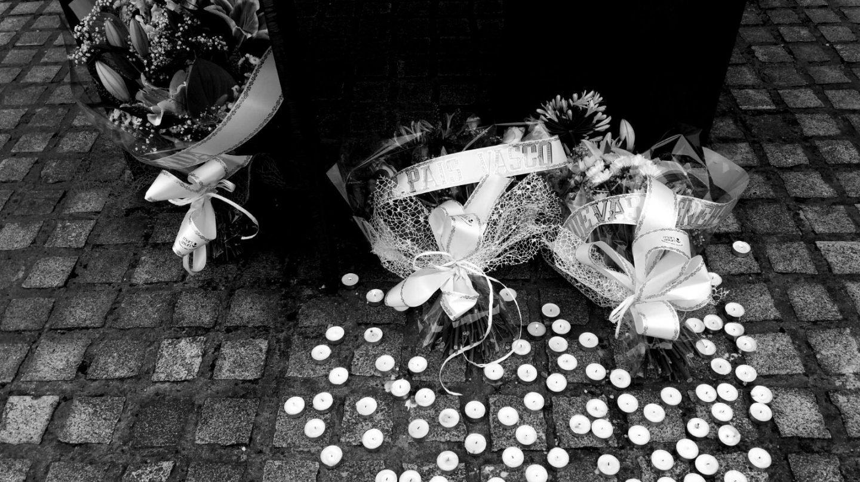 Homenaje a Miguel Ángel Blanco organizado por el PP vasco en Ermua.