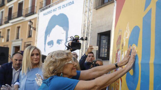 Carmena y Cifuentes, hoy, en el homenaje a Miguel Ángel Blanco