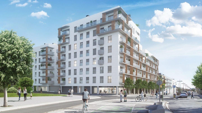 Recreación de un bloque de viviendas nuevas del fondo estadounidense Castlelake, lanzado este año en Vilanova i la Geltrú.