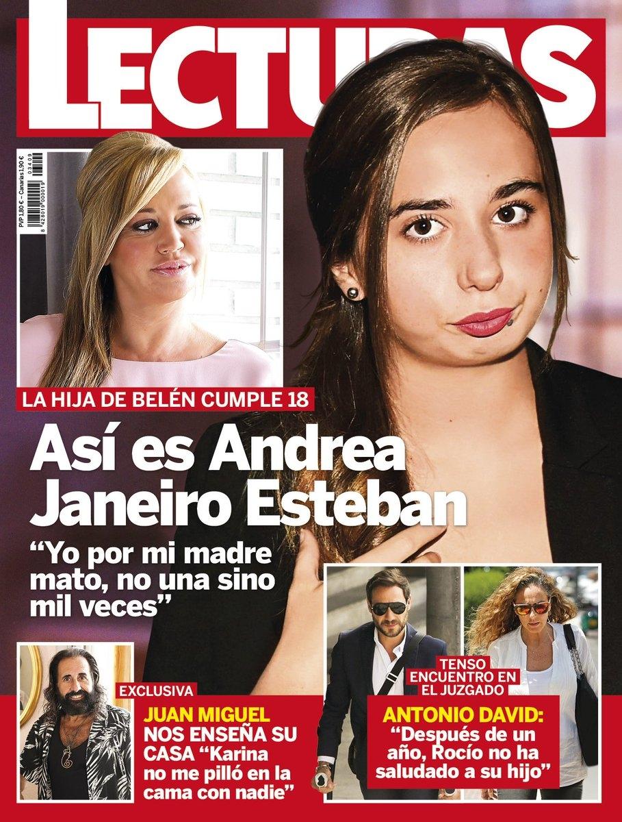 Justo el día de su 18 cumpleaños, Andreíta, la hija de Belén Esteban y Jesulín de Ubrique, ya está en la portada de algunas revistas.