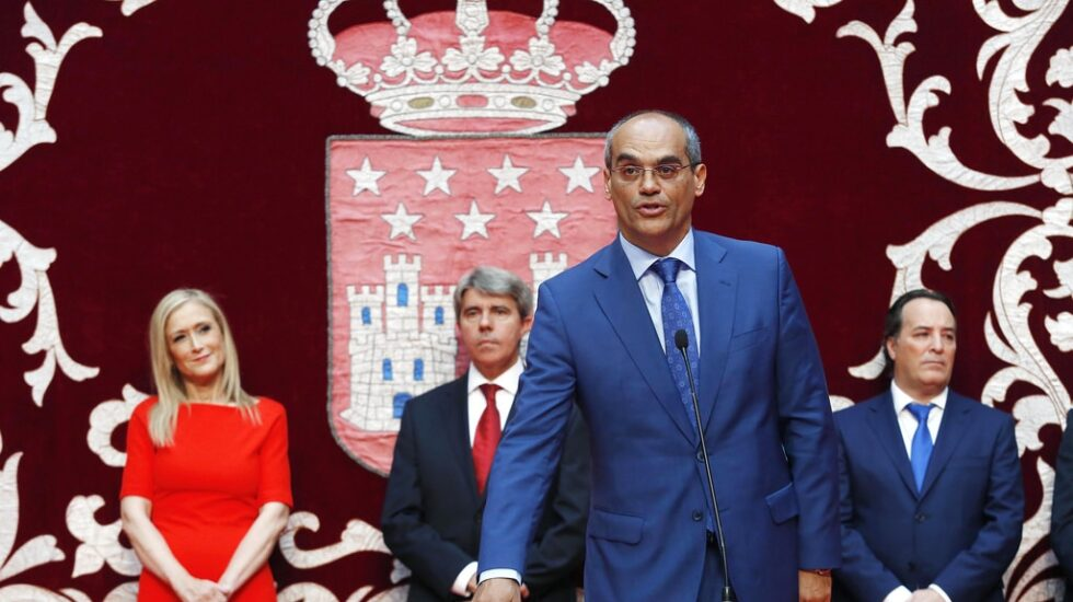 El consejero de Educación, Juventud y Deporte de la Comunidad de Madrid, Rafael van Grieken.