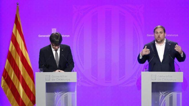 Puigdemont y Junqueras, protagonizan las quiebras en el desafío independentista