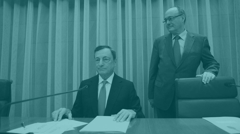 Mario Draghi y Luis María Linde.