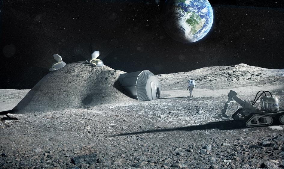 Base imaginada de explotación lunar