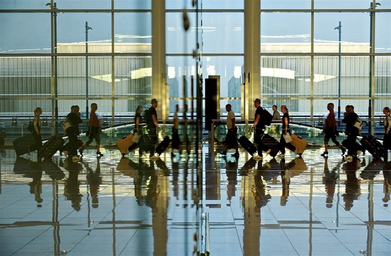 Pasajeros en el Aeropuerto Adolfo Suárez Madrid Barajas.