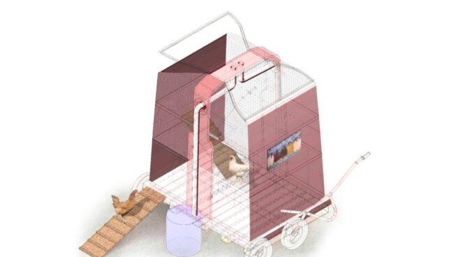 Criadero de aves a partir de contenedor de vidrio