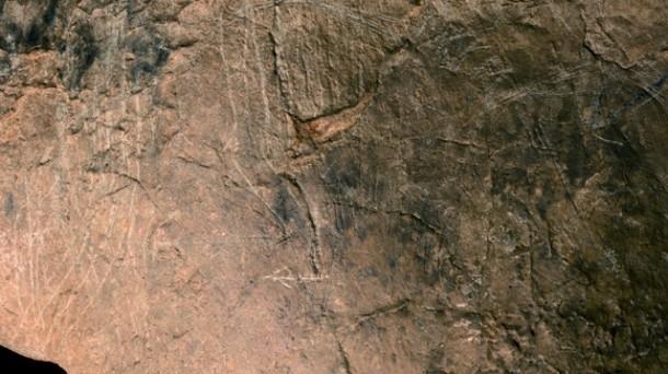 Imagen de uno de los grabados paleolíticos encontrados en Gipuzkoa.