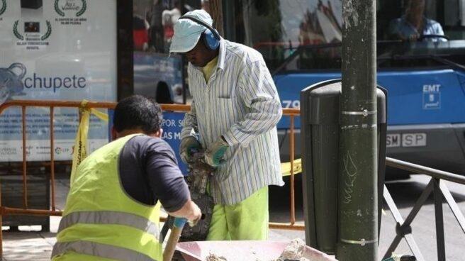 Trabajadores inmigrantes en el sector de la construcción.