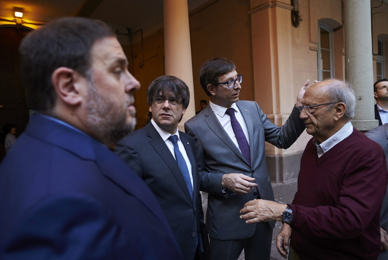 Oriol Junqueras, junto a Carles Puigdmont.