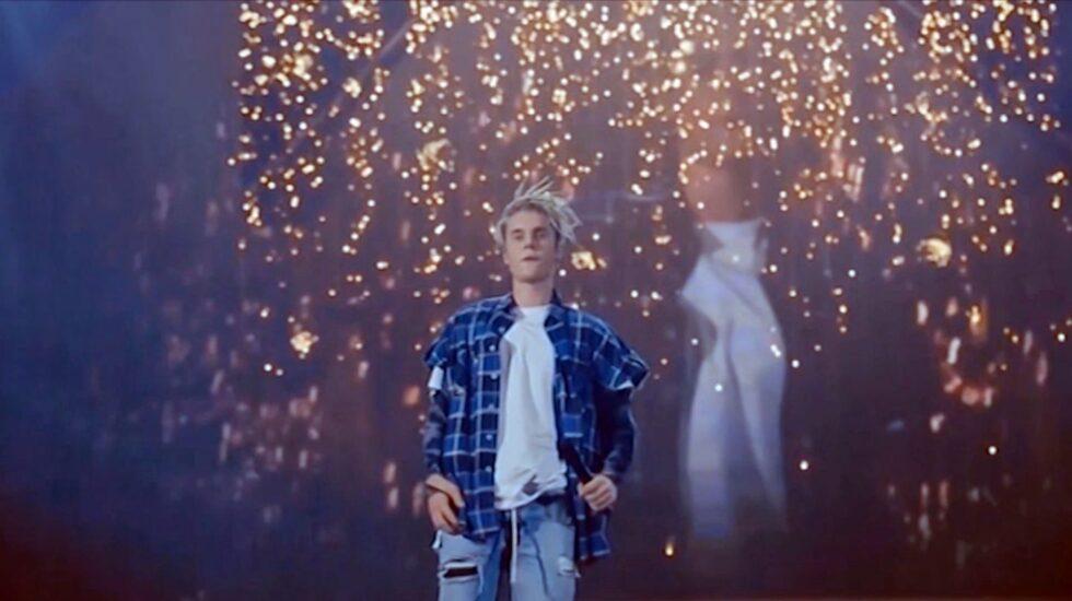 Justin Bieber durante su gira Purpose.