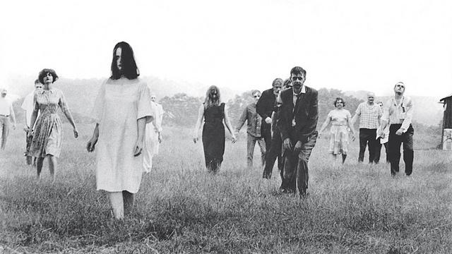 Fotograma de la noche de los muertos vivientes.