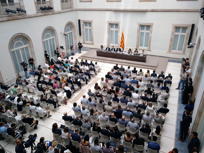 Acto de presentación de la Ley del Referéndum de Autodeterminación de Cataluña.