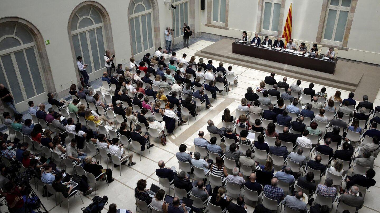 Acto de presentación de la ley del referéndum.