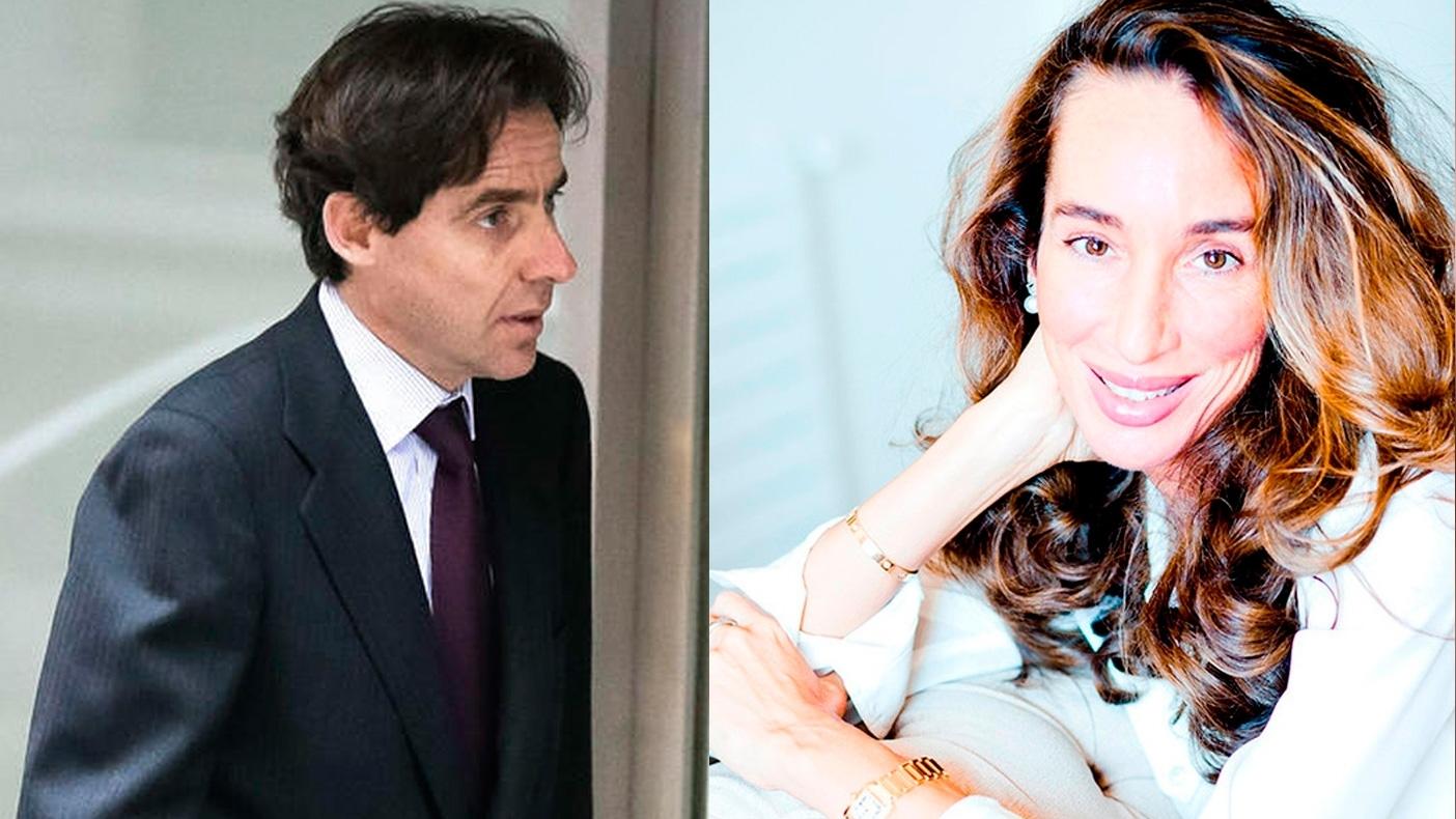 El ejecutivo Javier López Madrid y la dermatóloga Elisa Pinto.