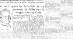 Marie Curie: el día que el radio mató a su descubridora