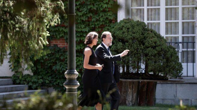 Garbiñe Muguruza con Mariano Rajoy.