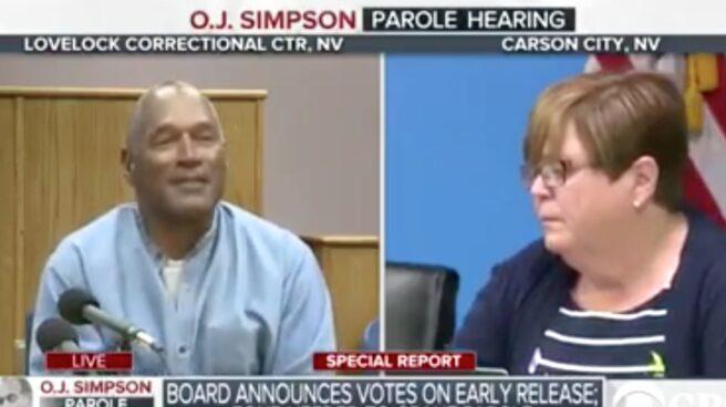 OJ Simpson tras conocer el fallo de la juez.