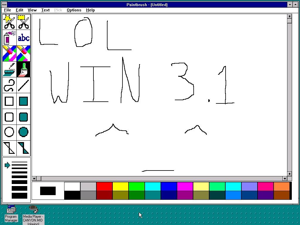 MS Paint en Windows 3.1