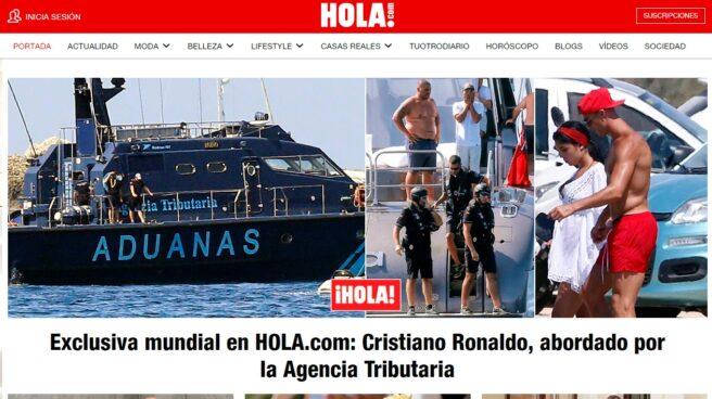 Portada de Hola.com con la exclusiva sobre Cristiano Ronaldo.