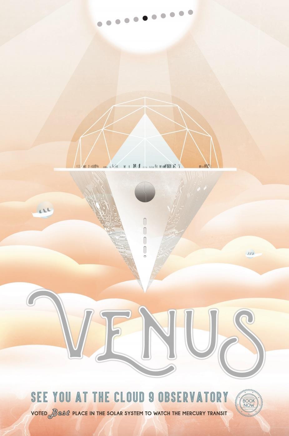 Poster sobre el observatorio irreal para ver Venus