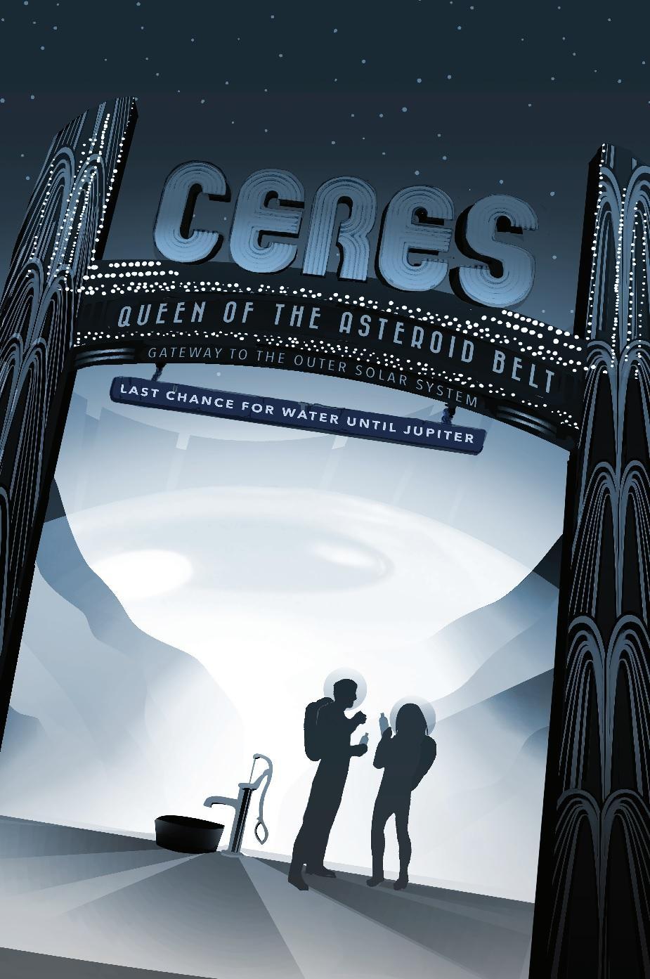 Poster invitado a pasar por el mini planeta Ceres