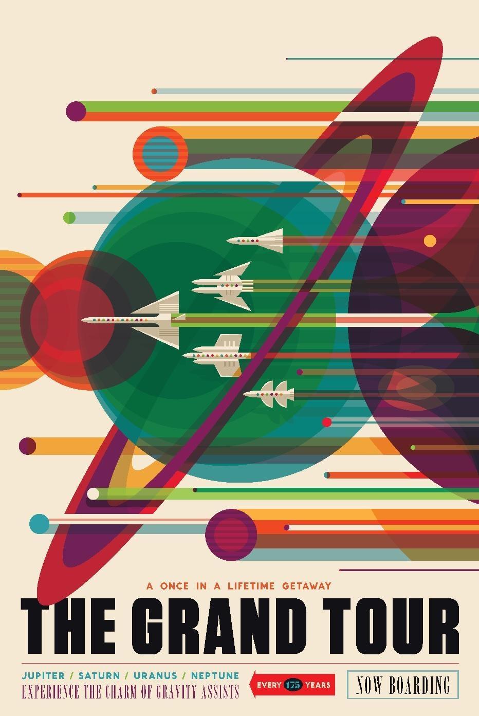 Poster sobre turismo en Júpiter