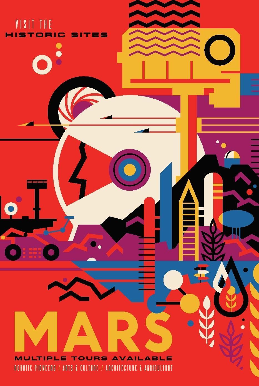 Poster sobre turismo en Marte