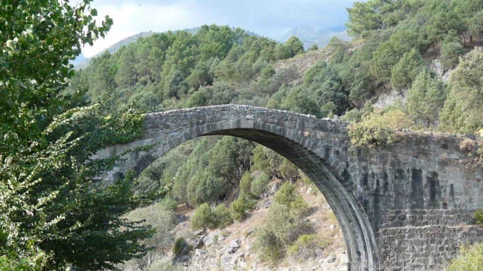 Puente romano de Madrigal de la Vera, en Extremadura.
