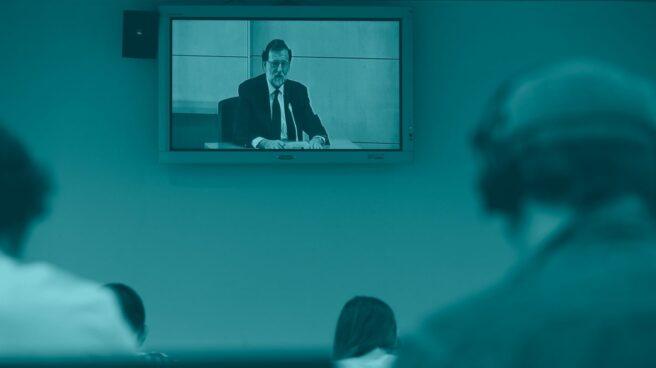 Imagen de Mariano Rajoy en la sala que juzga el caso Gürtel.
