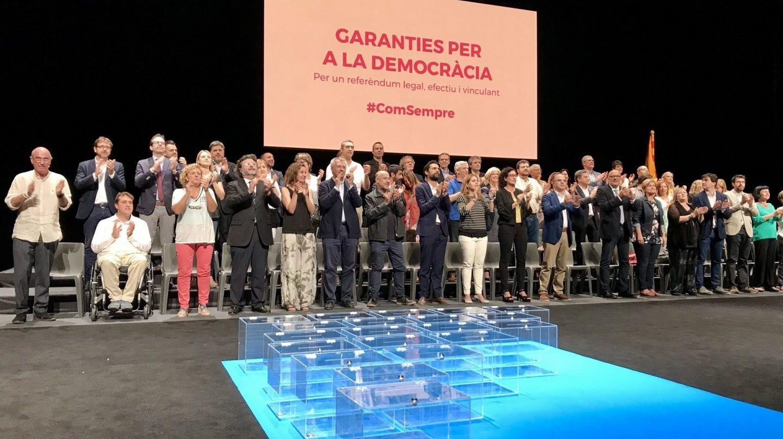 Acto de presentación del referéndum en Cataluña.