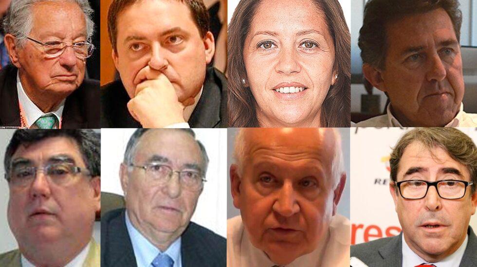 De arriba a abajo y de izquiera a derecha: Juan Padrón, Gorka Villar, María José Claramunt y José Miguel Monje (arriba). Jacinto Andrés Alonso, Vicente Temprado, Juan Espino y Jorge Pérez (debajo).