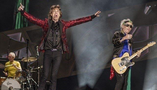 Los Rolling Stones, en un concierto.