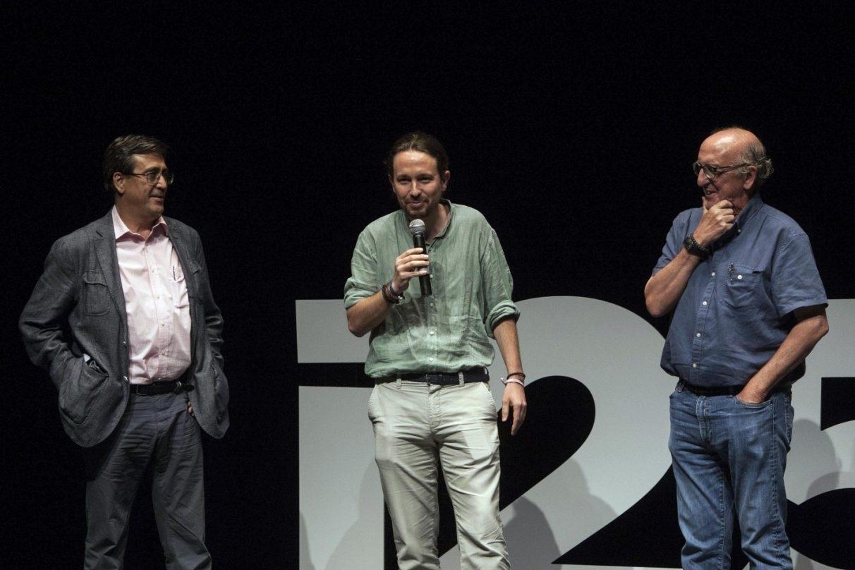 El propietario de Mediapro, Jaume Roures, en los cursos de verano de Podemos.