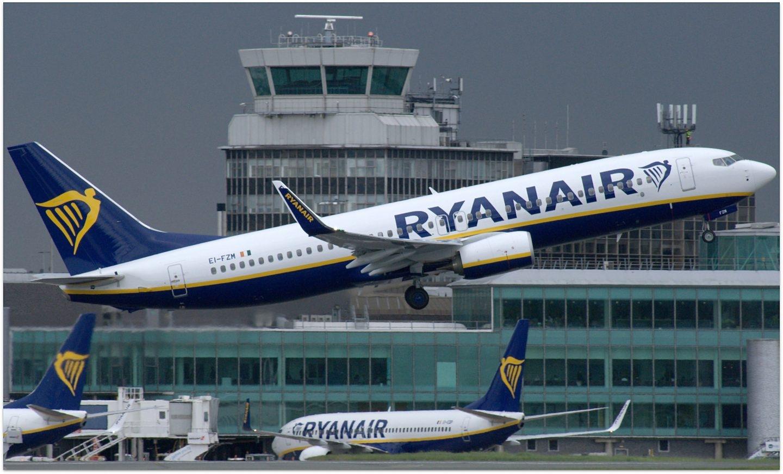 Un avión de la flota de la aerolínea de bajo coste Ryanair.