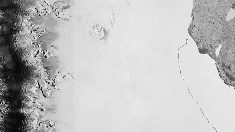 La grieta de la placa de hielo Larsen C capturada por el satélite Sentinel 1 el 12 de julio de 2017