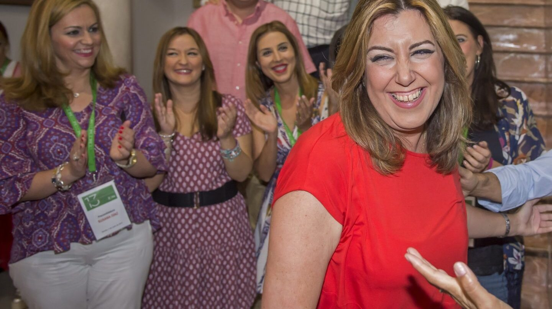 La presidenta de la Junta de Andalucía, Susana Díaz, este sábado.