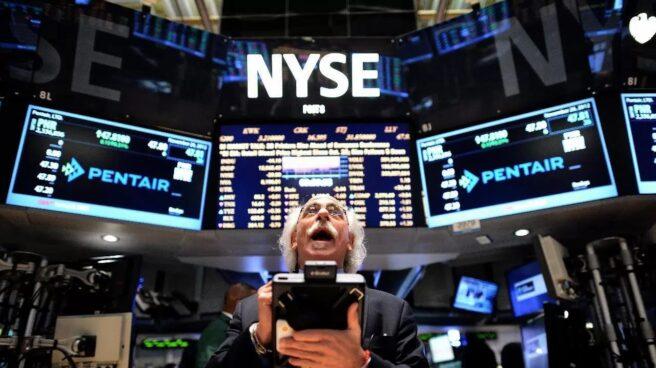 Interior de la Bolsa de Nueva York, en Wall Street.