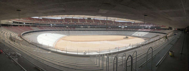 Vista panorámica del interior del Wanda Metropolitano, nuevo estadio del Atlético de Madrid.