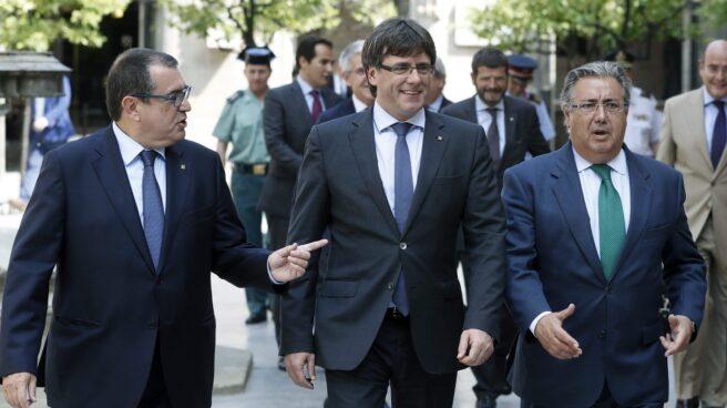 Jordi Jané, Carles Puigdemont y Juan Ignacio Zoido han hablado este lunes de lucha antiterrorista