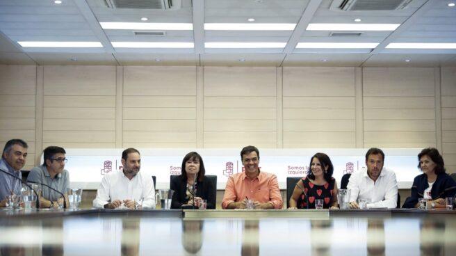 Pedro Sánchez preside este lunes la Ejecutiva del PSOE.