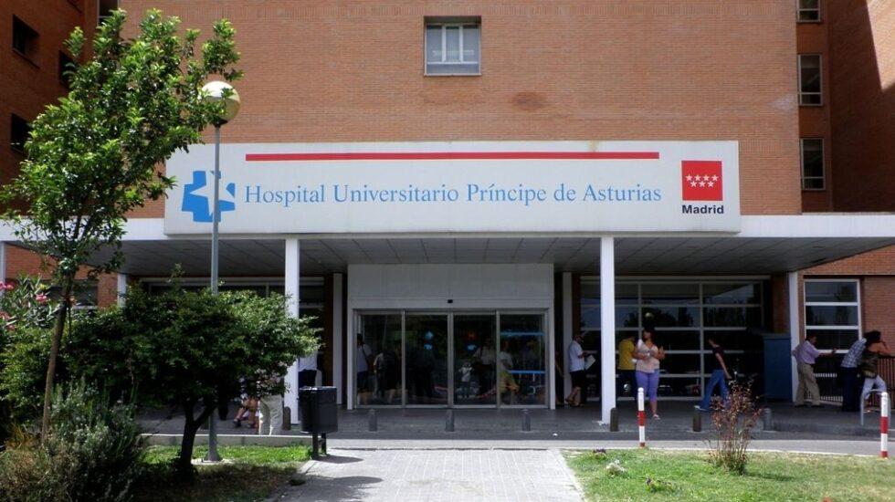 Entrada del Hospital Príncipe de Asturias de Alcalá de Henares.
