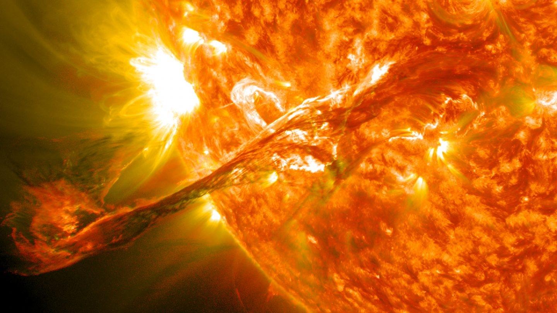 Erupción solar.