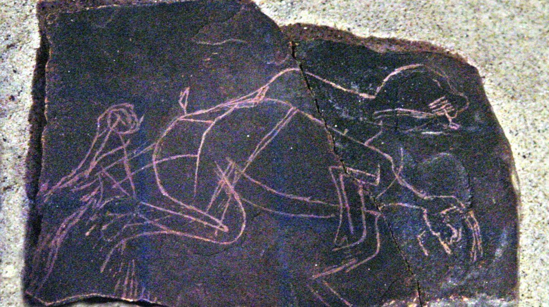 Escena de voyeurismo hallada en la gruta de Enlène