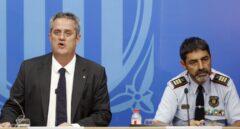 El 'conseller' de Interior, Joaquim Forn, junto al mayor de los Mossos d'Esquadra, Josep Lluís Trapero.
