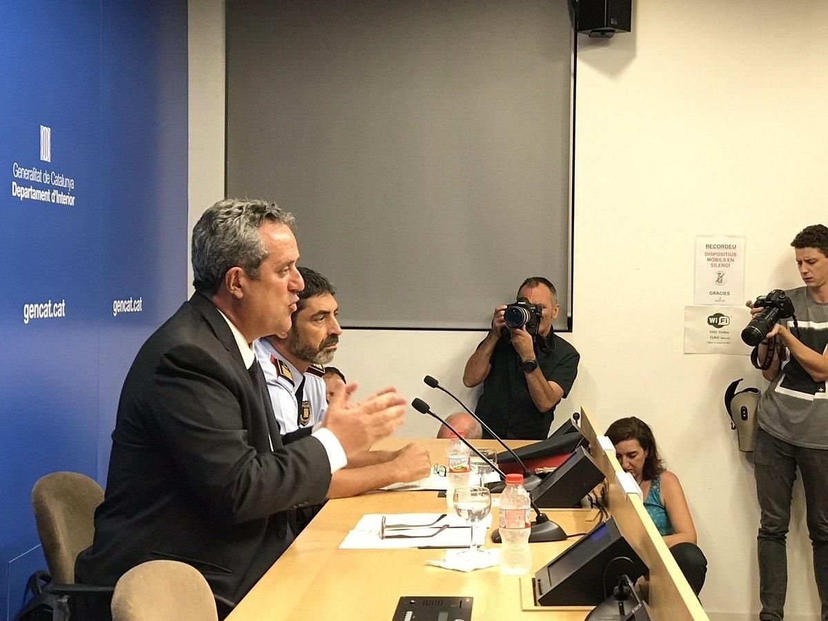 Forn y Trapero, en la rueda de prensa en Barcelona.