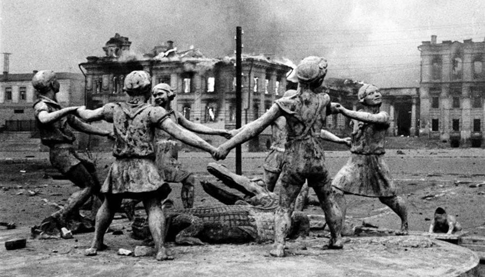 Fuente Barmalej, en Stalingrado, en agosto de 1942.