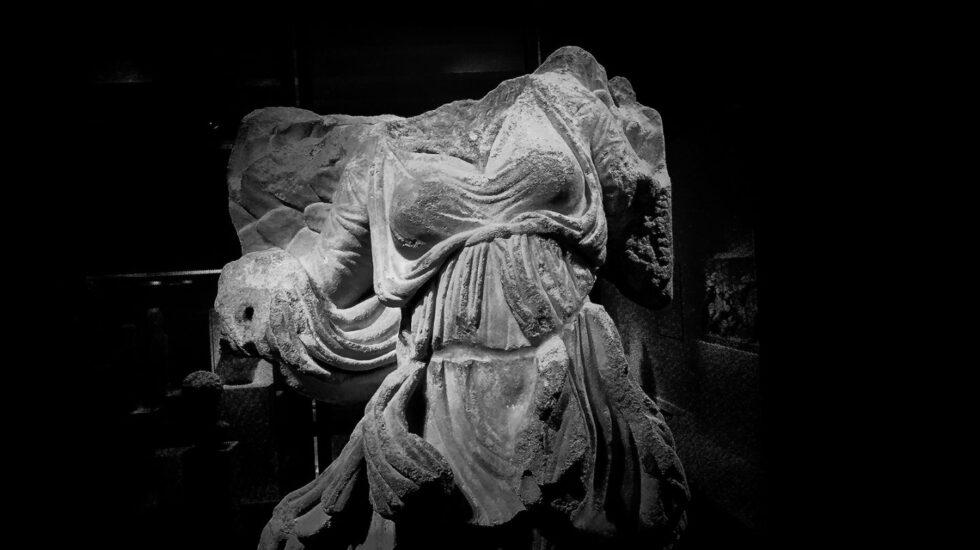 Estatua de Niké, la diosa alada de la victoria.